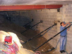 Repair options for cracked cmu foundations for Cost of poured concrete foundation walls