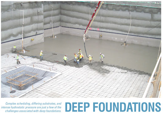 Options For Waterproofing Deep Foundations