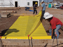 Underslab Barriers Are Easy To Install Simply Unroll Tape Seams Place Rebar And Pour Concrete