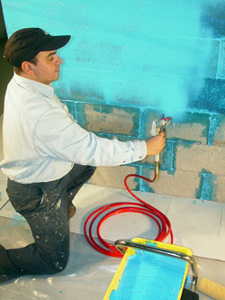 ames blue max. Most Water-based Coatings, Like The Blue-Max From Ames Pictured, Can Be Applied To Damp Surfaces Without Risking Delamination. Blue Max A