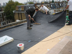 Lovely Built Up Roofs Use A Series Of Layers Adhered Together With Hot Tar Or Heat  From A Torch.