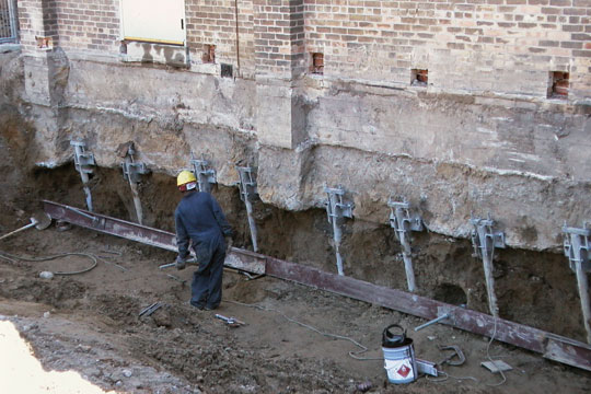 Piering for foundation repair for Foundation piers
