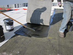 an adaptation of torchdown roofing cold modified bitumen roofs eliminate the torch and use adhesives to ensure the membrane and the substrate are