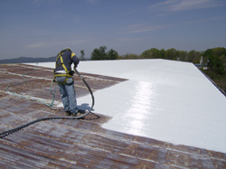 roofing is applied as a liquid and often needs no reinforcing material curing to a tough rubberlike membrane