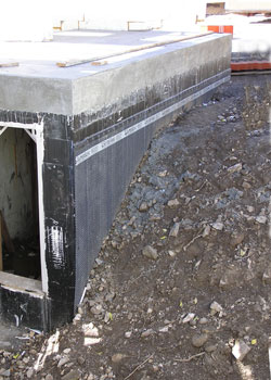 In a properly waterproofed basement drainage layers prevent water from accumulating around the foundation. & Relieving Hydrostatic Pressure