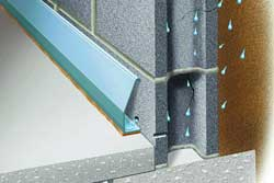 hollow baseboard products divert seepage to the sump pump with zero