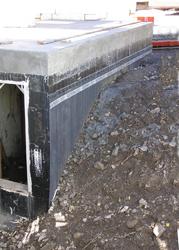 below grade residential drainage boards footing drains
