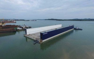 Integral gel Waterproofing Rescues Floating Dry Dock