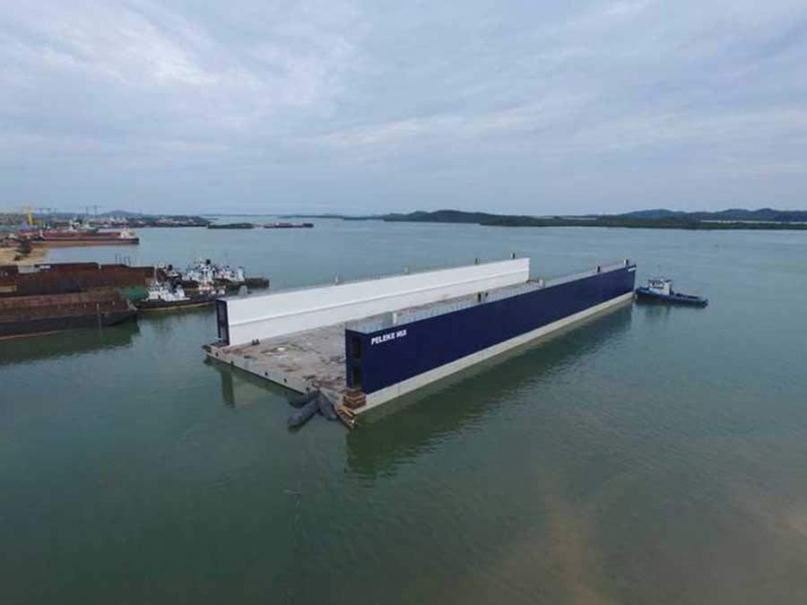 Crystalline Waterproofing Rescues Floating Dry Dock
